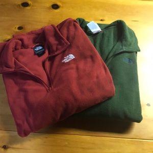 Bundle of men's xl The North Face quarter zips